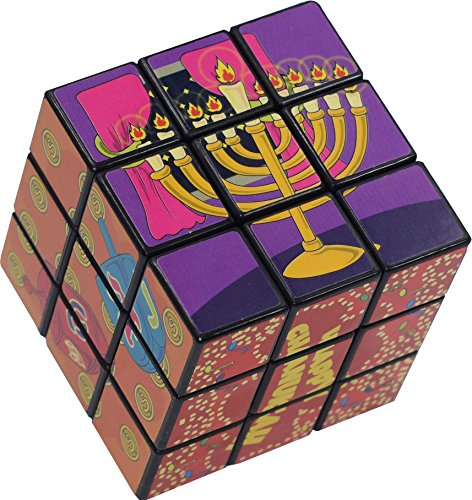 Chanukah Magic Cube - Medium Cube Style Game with Hanukah Pictures and Designs - Chanuka Toys