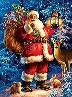 ダイヤモンドペインティングサンタクロースダイヤモンドモザイククリスマスダイヤモンド刺繍冬5DDIYフルスクエアクロスステッチの家の装飾