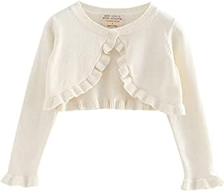 Xifamniy Newborn Girls Long Sleeve Shawl Cardigan Solid Color Cotton Knit Girl Daily Coat
