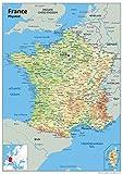 Tiger Carte de France,Papier plastifié,Format A2,42x 5,4cm