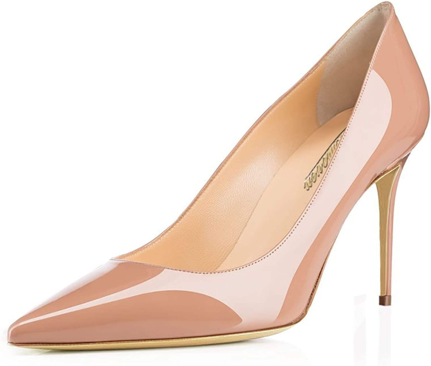 Modemoven Women's Pointed Toe Pumps Slip-on Office Business High Heels Sexy Stiletto shoes 85mm