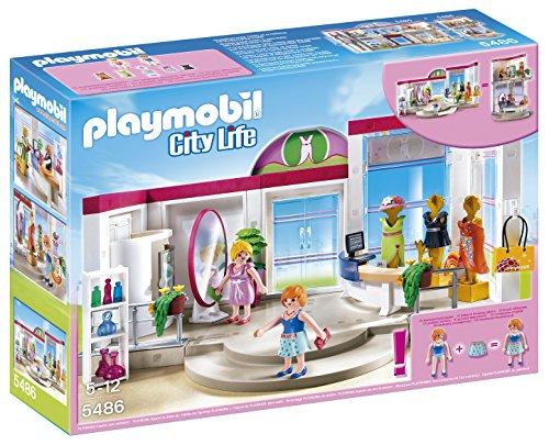 Playmobil Centro Comercial - City Life Tienda de Ropa Playsets de Figuras de jugete (Playmobil 5486)