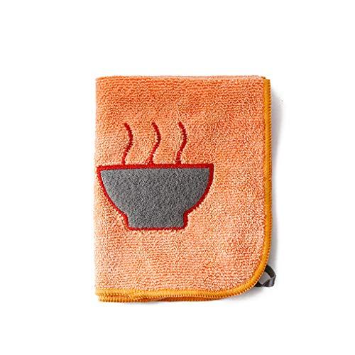 Vokmon Mikrofaser-Teller-Schüssel Pan Glasseiden Washing Cartoon-Muster Küche Putzlappen