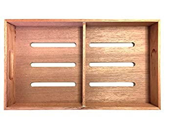 F.e.s.s Fess Storage versatility Cedar Tray with Adjustable Divider