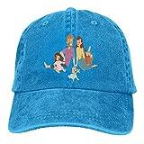RFTGB Gorras Unisex Accesorios Sombreros Gorras de béisbol Sombreros de Vaquero Family Picnic Denim Baseball Cap, Unisex Vintage Dad Hat, Golf Hats, Adjustable Plain Cap