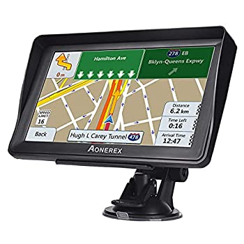 GPS Navigation for Car Truck 7 inch Touch Screen Vehicle GPS Navigation with Speedometer HGV Voice GPS Speeding Warning 2021 Maps Lifetime Free Map Updates