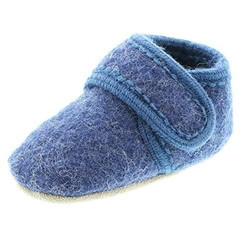 Celavi 3953 Chaussures en laine pour bébé Unisexe âge 4-5 ans Taille 27/28 Bleu