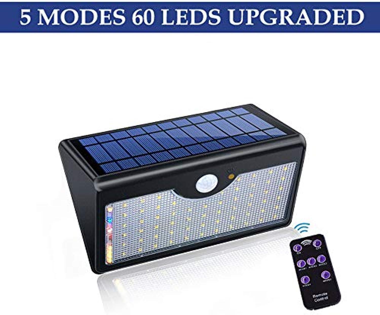 Rwdacfs Solarlampen für Auen, 60 LED Solarlicht super helle Upgrade-Lichter für Auenhfe, fünf Modi in Einem Solarlicht