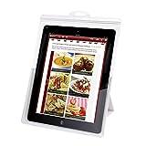 Balvi Funda Tablet iChef Color Transparente Soporte de Tablet para la Cocina Protege de los Golpes y líquidos Táctil y Funcional Plástico PVC 29x20,7x14 cm