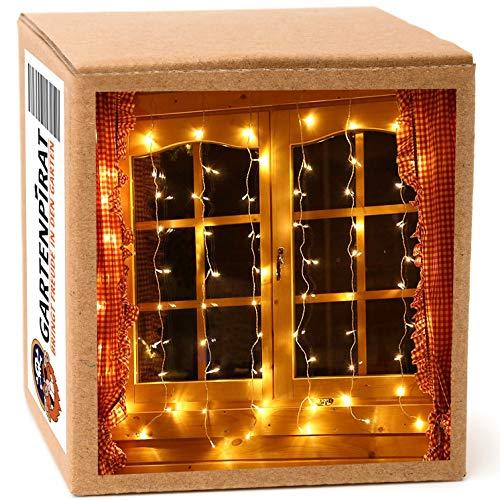 LED Vorhang 1m für Fenster Lichtervorhang 80 LED warmweiß innen Weihnachten
