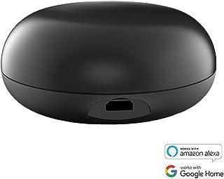 Ancoree IR03 Smart Controles Remoto con Sensor de Humedad (WiFi+ RF), APP Control de WiFi mando a distancia Universal TV, Aire acondicionado y Mucho Más - Trabaja con Alexa y Google Home (Negro)