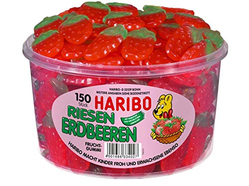 Haribo Riesen Erdbeeren gelatinefrei Menge:1350g Box