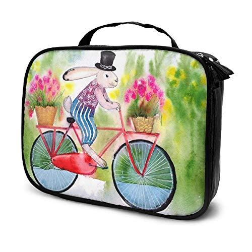 Bolsa organizadora de maquillaje de viaje de color ahumado, de gran capacidad, separadores extraíbles portátiles, para tren de maquillaje, bolsa multiusos, regalo para niñas y mujeres