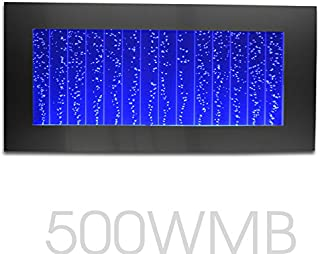 Bubblewall Bubble Panel Wall Mount Hanging Water Fountain 500WM (Black with 44 Key Wireless Remote)