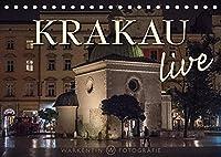 Krakau live (Tischkalender 2022 DIN A5 quer): Der international taetige professionelle Reisefotograf Karl H. Warkentin zeigt in 12 Motiven das lebendig-junge Krakau bei Tag und auch bei Nacht. (Monatskalender, 14 Seiten )