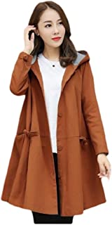 Howely Womens Oversized Baggy Hoodie Mid Long Outwear Trench Coat