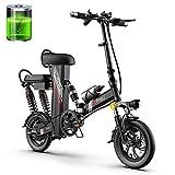 GUOJIN Bicicleta Electrica Plegables, 350W Motor Bicicleta Plegable 25 Km/H, Bici Electricas Adulto con Ruedas De 12