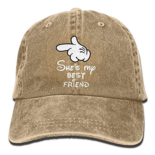 Hoswee Baseballmütze Hüte Kappe She's My Best Friend Plain Adjustable Cowboy Cap Denim Hat for Women and Men