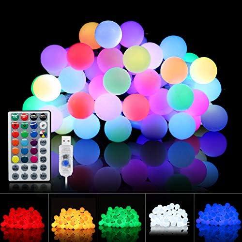 String Lights for Bedroom Globe String Lights 20 Ft 40 LEDs Indoor String Lights USB Powered product image