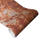 Queenbox Car Wrap Vinyl Roll, 50x200cm Camouflage Rusty Pattern Adhesive Gloss Sticker Decal for Home DIY Automotive Outdoor, Rust 01