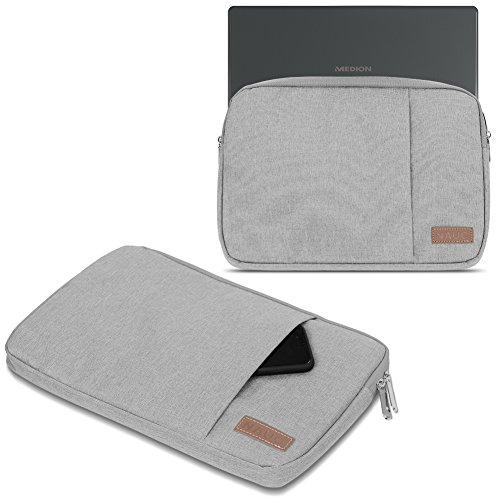 UC-Express Medion Erazer P6689 Hülle Tasche Notebook Schutzhülle Schwarz/Grau Cover Schutz Hülle 15,6 Zoll Laptoptasche, Farbe:Grau