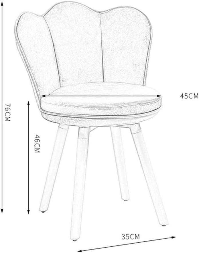 LSRRYD Chaise Salle À Manger/Coiffeuse Chaises,Cuisine Rembourrée Chaise Avec Pieds En Bois Et Assise En PU (Couleur : Yellow-B) White-a