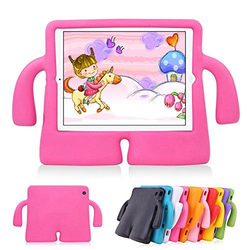 Capa iPad New iPad Air Infantil À prova de choque para crianças Suporte Braçinhos Rosa