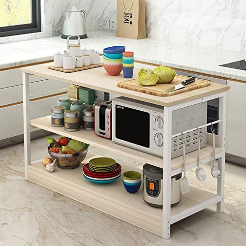 Rack de Panadería con Estantes Estante de 3 niveles de cocina del panadero Utilidad Estante de almacenamiento de microondas soporte de metal simple bastidor de montaje for estante de especia Almacenam