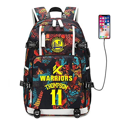 Augyuess Basketball Player Star Rucksack Schulranzen Daypack Bookbag Schultertasche Laptoptasche Rot Thompson 7