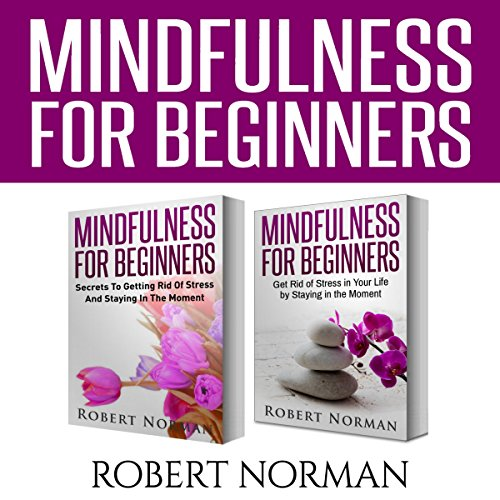 Mindfulness for Beginners, 2 Books in 1 audiobook cover art