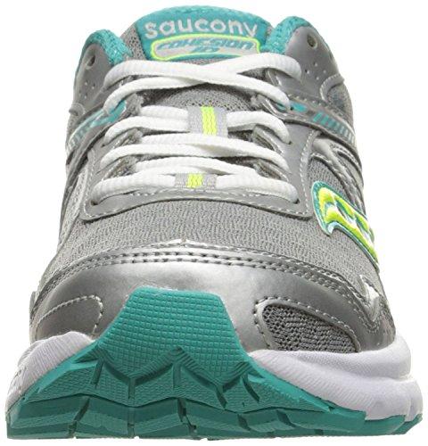 Saucony Women's Cohesion 10 Running Shoe, Grey/Tea/CT, 9 M US