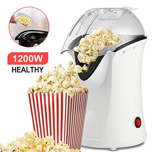 Why Should You Buy Hot Air Popcorn Maker, 1200W Fast Hot Air Popper with Measuring Cup, Easy To Clea...