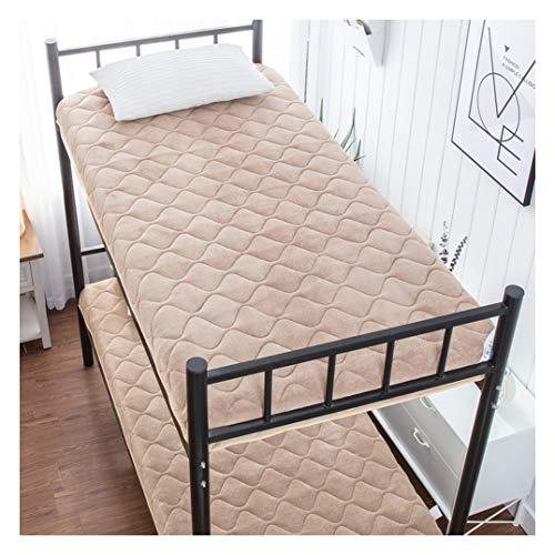 Futon matras, zachte 6 cm dik, flanel, matras, Japanse tatami, matras, studenten, slaapzaal, vouwmatras, geschikt voor vloer en bed, matras 70x160cm(28x63inch) kaki