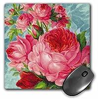 3drose LLC 8x 8x 0.25インチEnglish Roses水彩マウスパッド(MP 60597_ 1)