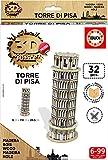 Educa - Puzzle 3D Madera Torre di Pisa 32 Piezas (17305)