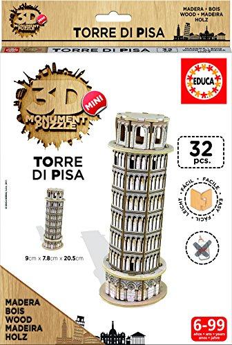 Puzzle 3D Madera Torre di Pisa 32 Piezas (17305)