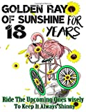 Golden Ray Of Sunshine For 18, 18th Birthday Gift- Flamingo Riding A Bike-Sunflower Journal-365 Planner: 18th Birthday Gift Journal/ Flamingo 6 Inch Journal / Sunflower Notebook/ Birthday note