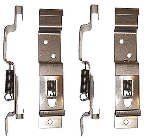 BITS4REASONS - Juego de 4 soportes (2 pares) de acero inoxidable con resorte para placa de matrícula de 11 cm de profundidad
