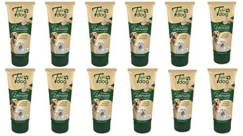 Cajou 2,99€/100g 12 Tuben Leberwurst a 75g (900g insgesamt) für Hunde Hundeleberwurst mit Gelantine