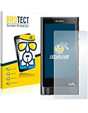 BROTECT Protector Pantalla Cristal Compatible con Sony Walkman NW-ZX2 Protector Pantalla Vidrio - Dureza Extrema, Anti-Huellas, AirGlass