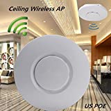 HXF Smart 300Mbps Ceiling Indoor Wireless Access Point 802.11b/g/n Wireless Access Point POE Coverage Router Long Range WiFi Repeater Antenna for Hotel/Home WiFi