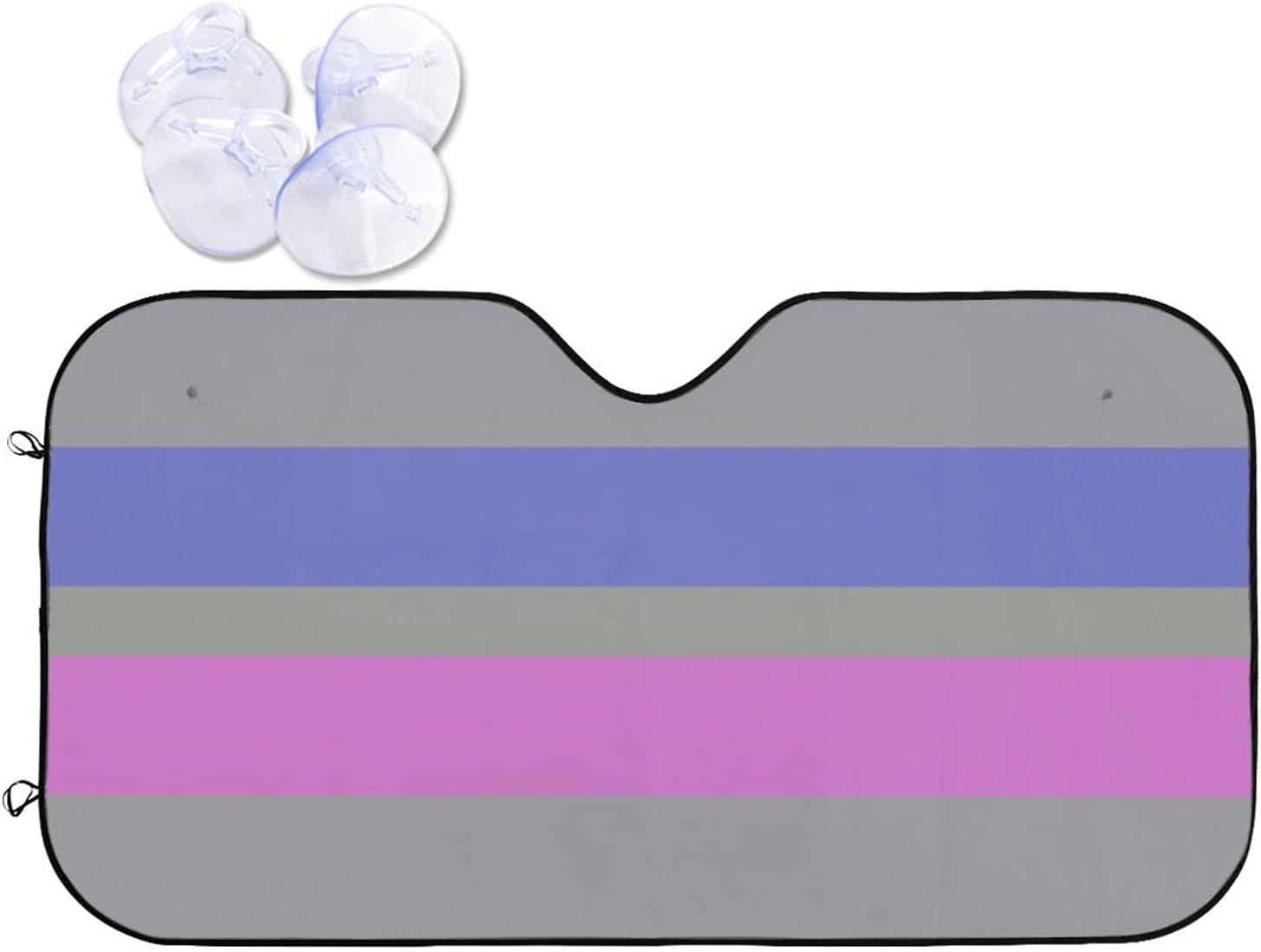 Luxury goods Androgynous Pride Flag Popular standard LGBTQ Car Sun Shade Universal Windshield