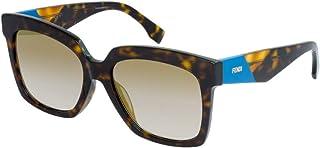 Fendi Women's FF 0284/F/S FQ 086 56 Sunglasses, Dark Havana Grey