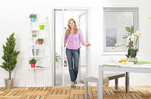 Preisvergleich Produktbild Insektenschutz Fliegengitter Rollo Tür Insektenschutzrollo SMART auf Maß geschnitten oder als Selbstbausatz