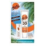 Malibu Duo Pack Protezione solare Crema Viso e Lip Balm SPF 30 Water Resistant