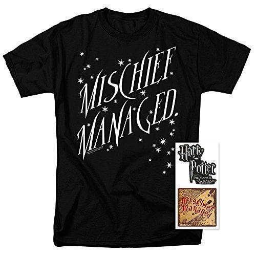 Popfunk Harry Potter Mischief Managed Movie T Shirt & Stickers