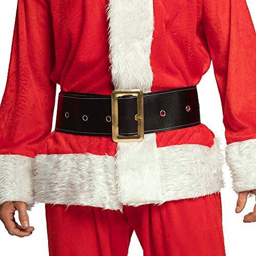 Boland 10102542 78656 13236 Santa Belt with Metal Buckle, Black, 150 x 9 cm