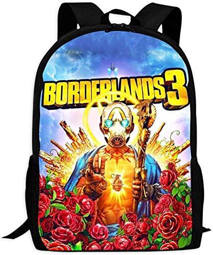 Border-Lands 3 3D-Druck Rucksack Schultasche Student Bookbag für Mädchen Jungen