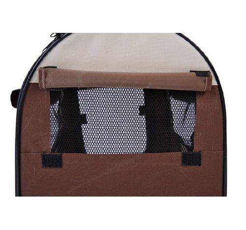 PawHut D1-0100 faltbare Transportbox für Haustier, kaffeebraun/creme - 3