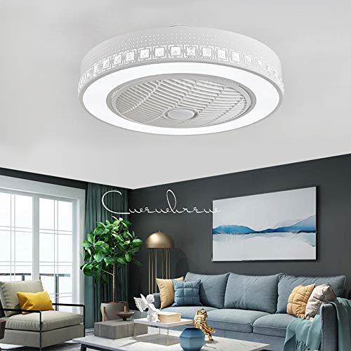 Ventilador de techo con iluminación y control remoto Ventilador silencioso Luz de techo LED moderno y creativo Lámpara de techo regulable Candelabro fan Restaurante Dormitorio Lámparas de sala